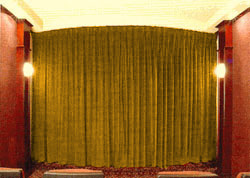 271-292 Inch Wide Unlined Superior Home Theater Curtain