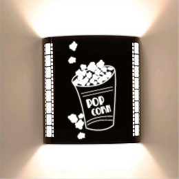 Popcorn Laser Cut Home Cinema Wall Sconce