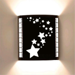Stars Laser Cut Home Theater Wall Sconce