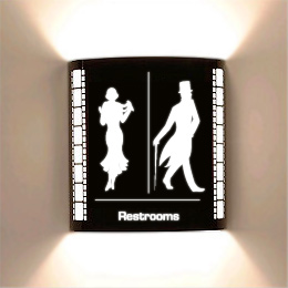 Theatrical Restrooms Laser Cut HT Sconce