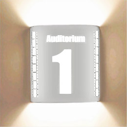 Auditorium 1 Stainless Steel Theatrical Laser Cut Sconce