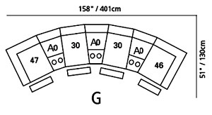 Shields Sectional Configuration G