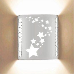 Stars Stainless Steel Theatrical Laser Cut Sconce