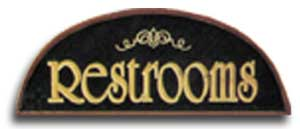 Theater Restrooms Sign