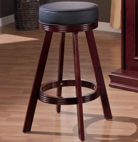 Cherry Finish Backless Bar Stool