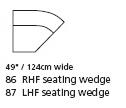 Palliser Franco LHF Seating Wedge