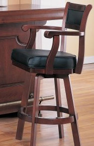 Cherry Swivel Bar Stool