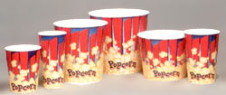 Yellow Design Popcorn Cups and Tubs