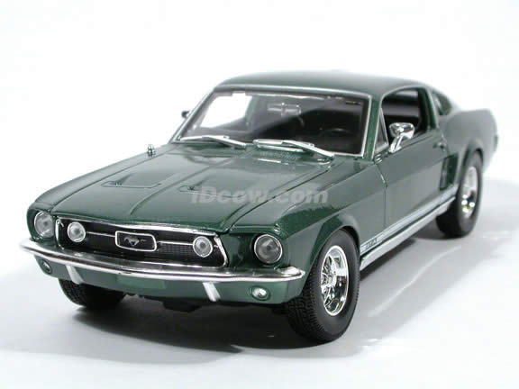 1967 ford mustang gta fastback diecast model car 118 scale die cast by maisto green - 1967 Ford Mustang Fastback Green
