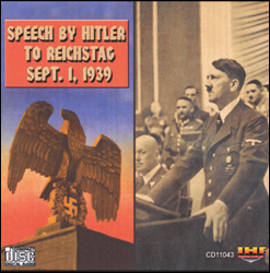 Hitler's Speech To Reichstag Sept  1, 1939 (War Declaration on Poland)   CD - www.ihfhilm.com