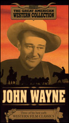 John Wayne: Randy Rides Alone-The Train Beyond-Hell Town  (VHS Tape) - www.ihfhilm.com