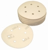 "6 Hole Hook and Loop Platinum Paper Sanding Discs, 6"" Diameter, P120D Grit, Box of 50."