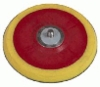 "6"" 9-Hole Hook & Loop Backup Pad, 5/16""x24 Male Thread Arbor."