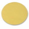 "Solid Hook and Loop Gold Paper Sanding Discs, 6"" Diameter, P1500C Grit, Box of 50."