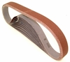 "Aluminum Oxide Sanding Belts, 2.5"" by 60"", 100 Grit, Pack of 10."