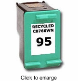 Remanufactured Hewlett Packard C8766WN (HP 95) Color Inkjet Cartridges - click to enlarge