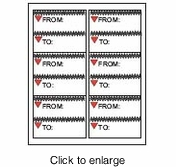 """Maco ML-6604 Color Inkjet/Laser Shipping Labels - 3.33"""" x 4""""� - click to enlarge"""