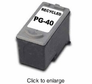 Recycled Canon PG-40 Black Inkjet Cartridges (Standard Capacity) - click to enlarge