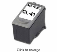 Recycled Canon CL-41 Tri-Color Inkjet Cartridge - click to enlarge