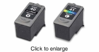 Recycled Canon 40 & 41 Inkjet Cartridge Bundle - click to enlarge