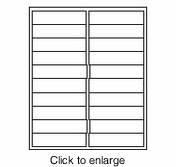 "Maco IJ-5866 White 1"" x 4"" Inkjet Address Labels (Avery # 5161 Compatible) - click to enlarge"