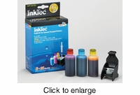 Color Ink Refill Kit for HP 75xl ink cartridges - click to enlarge
