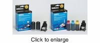 Refill Kit Set for Hewlett Packard HP 60, 901, 60XL & 901XL (Black & Color) Inkjet Cartridges - click to enlarge