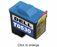 Remanufactured Dell T0530 Color Inkjet Cartridges (A920 & 720) - click to enlarge