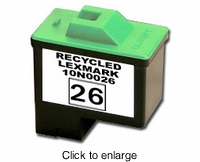 Remanufactured Lexmark 10N0026 Inkjet Cartridges (# 26 ) Color - click to enlarge