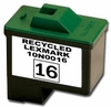 Remanufactured Lexmark 10N0016 Inkjet Cartridges (# 16) Black