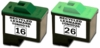 Lexmark 10N0016 (#16) & 10N0026 (#26) Recycled Inkjet Cartridges