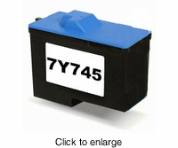 Remanufactured Dell 7Y745 (X0504) Tri-Color Inkjet Print Cartridges - click to enlarge
