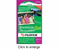 "FujiFilm Premium Plus Glossy Inkjet Photo Paper - 8"" x 11"" - 10 Sheets - click to enlarge"
