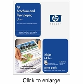 HP Glossy Brochure & Flyer Paper - 150 Sheets - click to enlarge