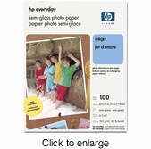 HP Everyday Semi-Gloss Photo Paper - 100 Sheets - click to enlarge