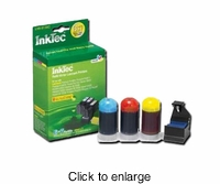 Refill Kits for Lexmark 100XL Color Printer Ink Cartridges - click to enlarge