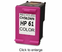 Remanufactured HP 61 Color Ink Cartridges (CH562WN) - click to enlarge