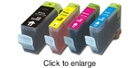 Compatible Canon BCI-3 (BCI3) Printer Ink Cartridges - click to enlarge