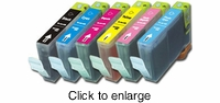 Set of Canon BCI-6 (BCI6) Compatible Inkjet Print Cartridges - click to enlarge