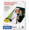 "Epson 8.5"" x 11"" Borderless Premium Glossy Photo Paper - 20 Sheets"
