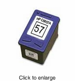 Remanufactured Hewlett Packard C6657AN ( HP 57 ) Color Inkjet Cartridges - click to enlarge