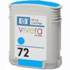 Empty Hewlett Packard 72 Cyan Ink Cartridge