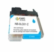 Brother LC 61c compatible cyan inkjet printer cartridges ( LC61c, LC-61c)
