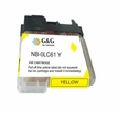 Brother LC 61y compatible yellow printer ink cartridges ( LC61y, LC-61y)
