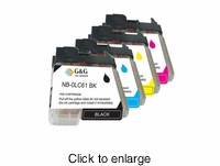 Brother LC 61 compatible printer ink cartridges ( LC61, LC-61) - click to enlarge