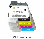 Compatible Brother LC 65 High Yield Ink Cartridge Bundle ( Inkjet Cartridges ) - click to enlarge