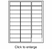 """Avery 5260 Compatible White Inkjet & Laser Address Labels - 1"""" x 2&5/8"""" (Avery # 5260 & 5160 Compatible) - click to enlarge"""