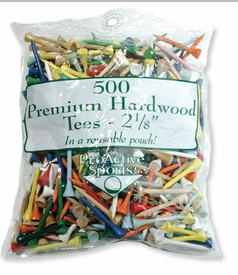 500 Count Wood Golf Tees Assorted Colors!