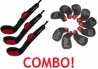Golf Driver, 3 Wood, 5 Wood and 9 Piece Iron Set Value Combo