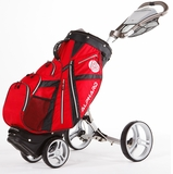 FREE SHIPPING!  Alphard Duo DX Golf Push Cart with Integrated Bag
